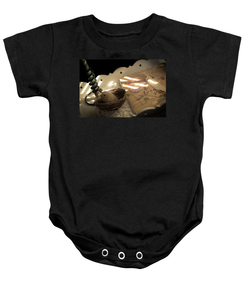 Book Baby Onesie featuring the photograph Aesop's Fable by Trish Tritz