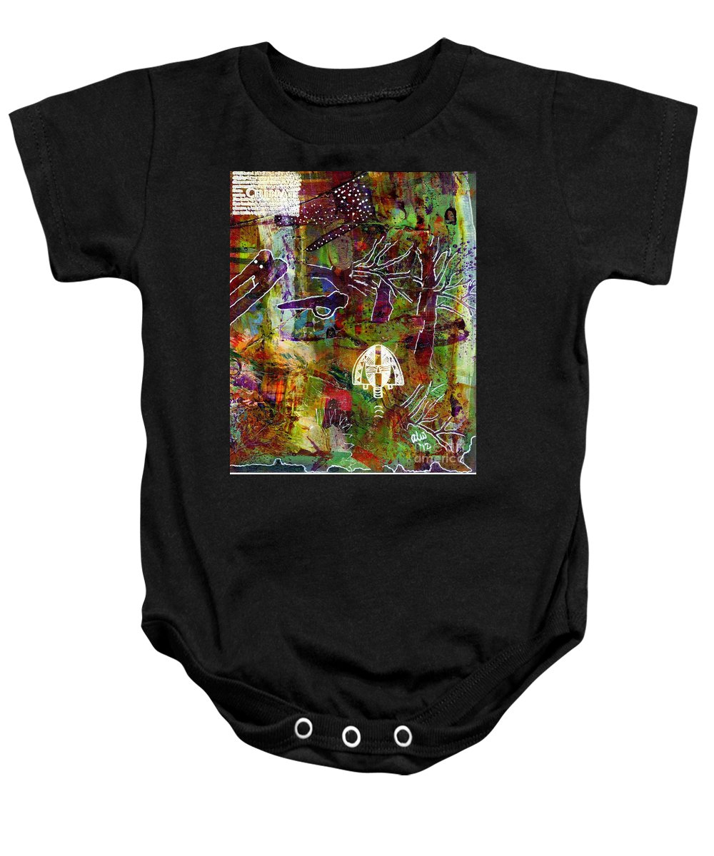 Acrylic Baby Onesie featuring the painting After The Storm by Angela L Walker