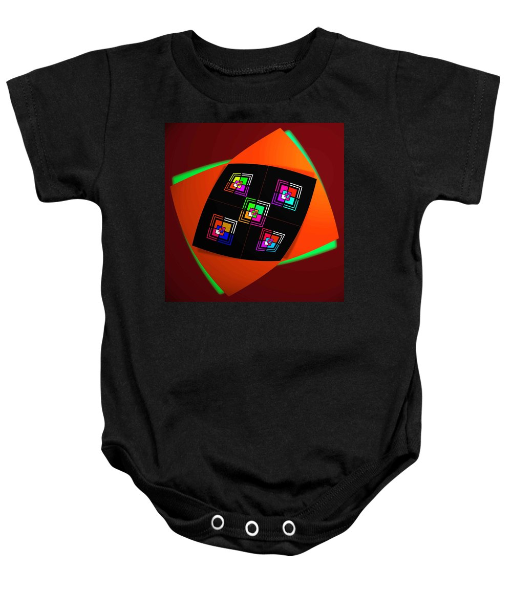 Bow Baby Onesie featuring the painting Ai Bow Tie by Charles Stuart