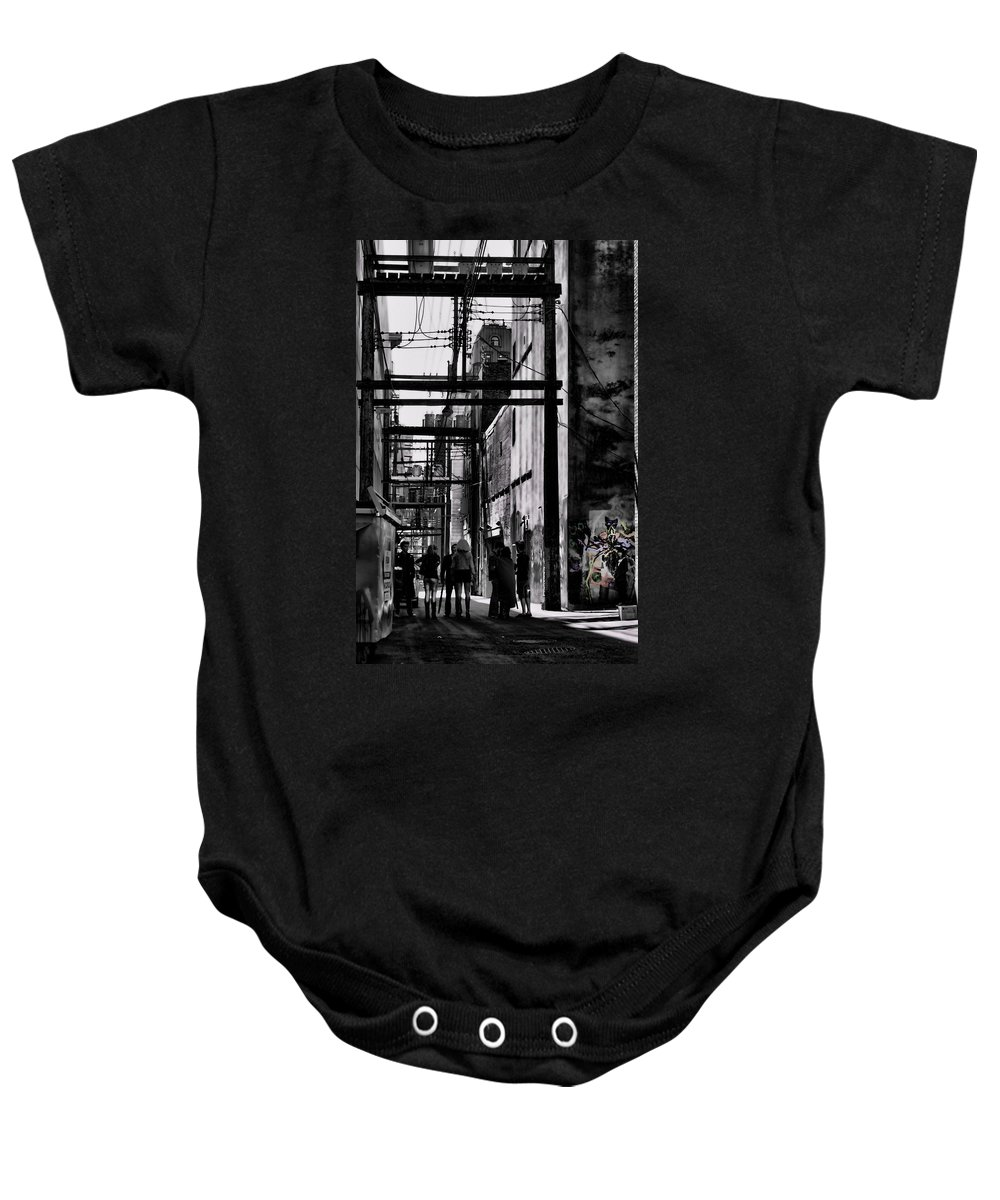 Jerry Cordeiro Framed Prints Photographs Baby Onesie featuring the photograph Alley Parade by The Artist Project