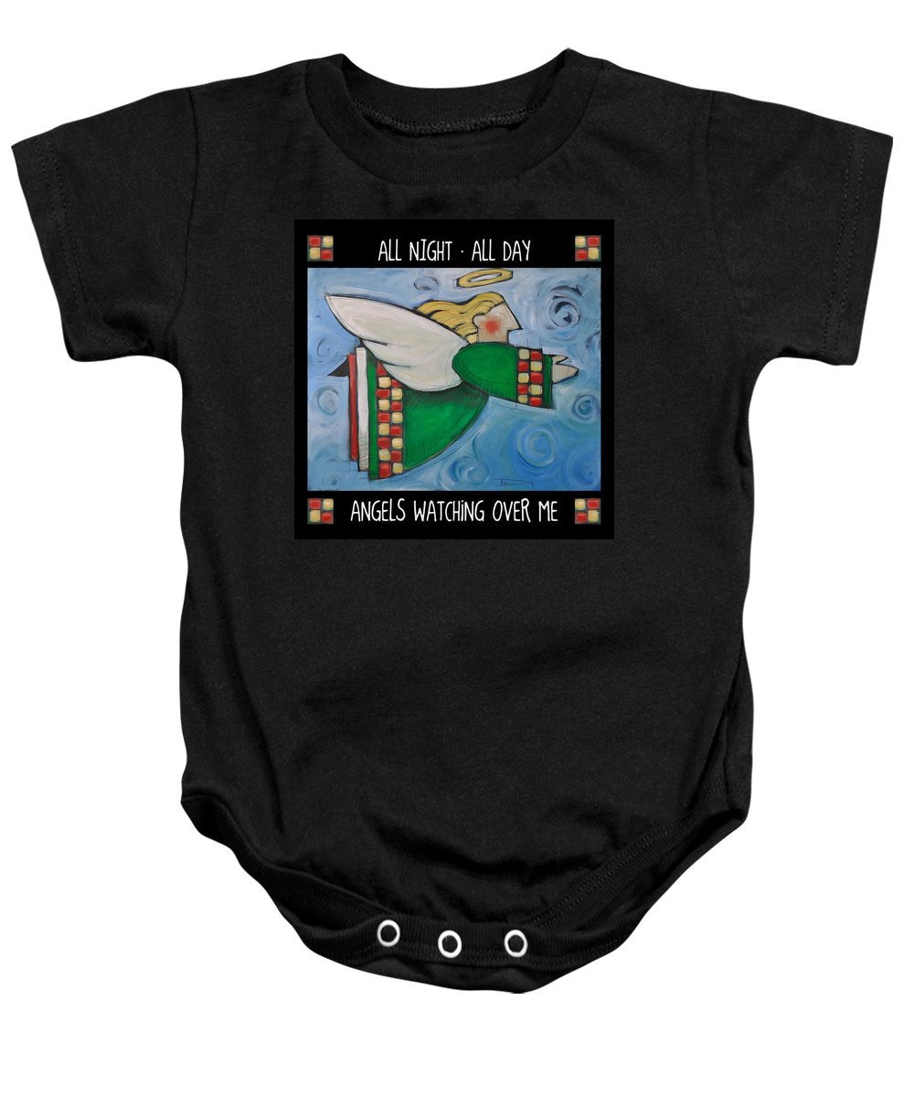 Angels Baby Onesie featuring the painting Angel Flight Poster by Tim Nyberg