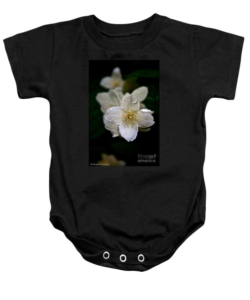 Outdoors Baby Onesie featuring the photograph Angel Teardrops by Susan Herber