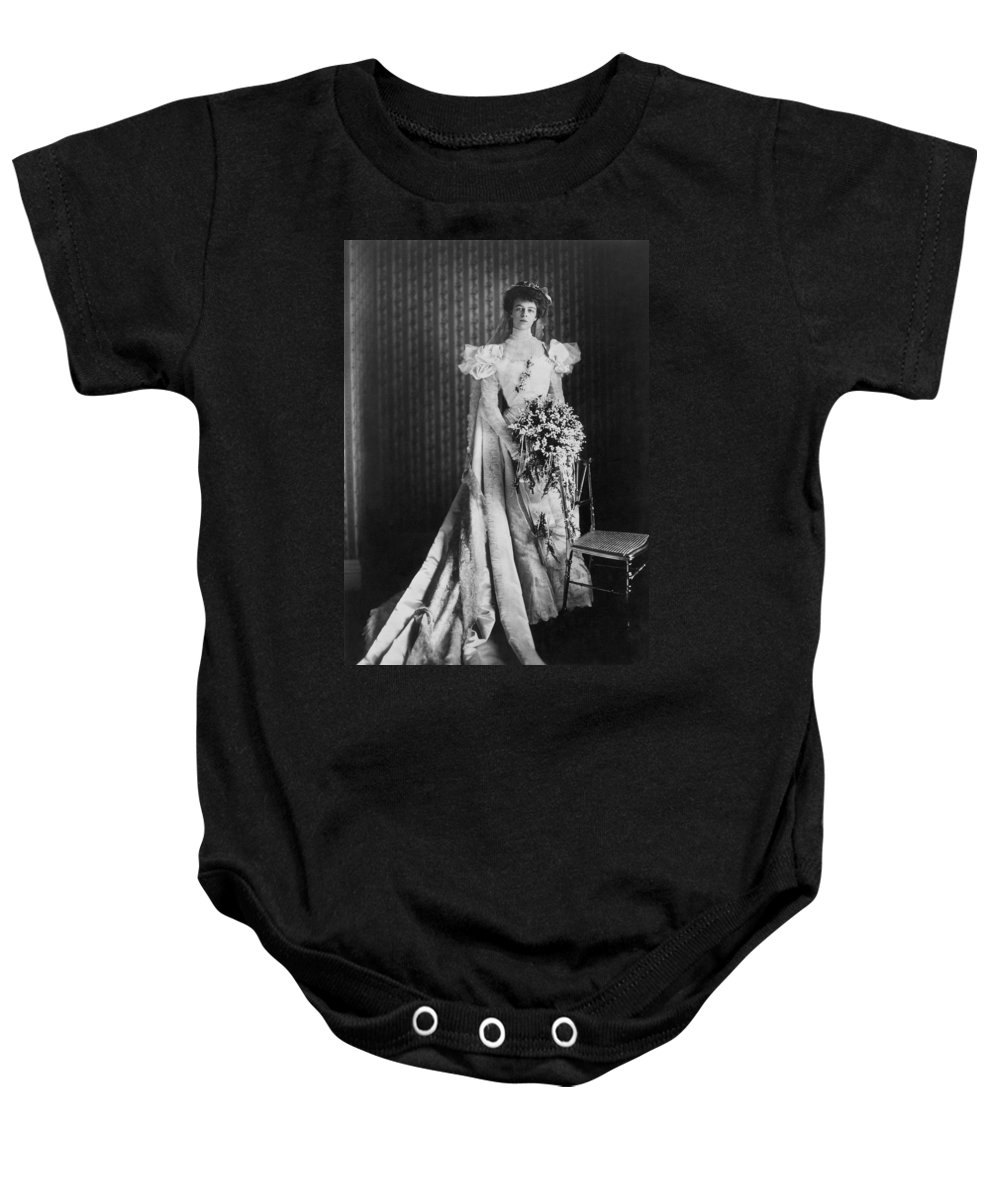 1905 Baby Onesie featuring the photograph Anna Eleanor Roosevelt by Granger