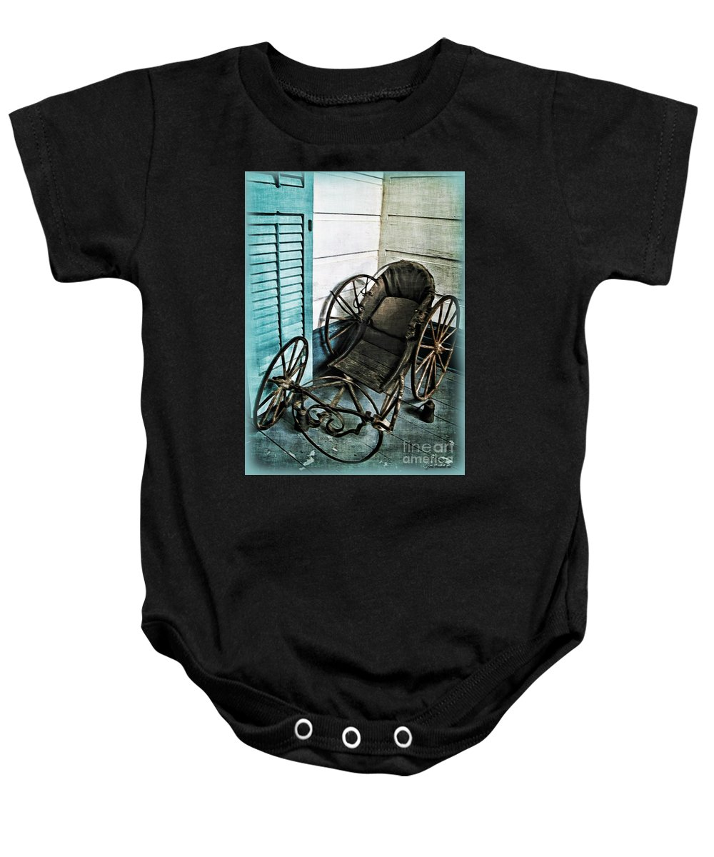 Antique Baby Onesie featuring the photograph Antique Baby Carriage by Joan Minchak