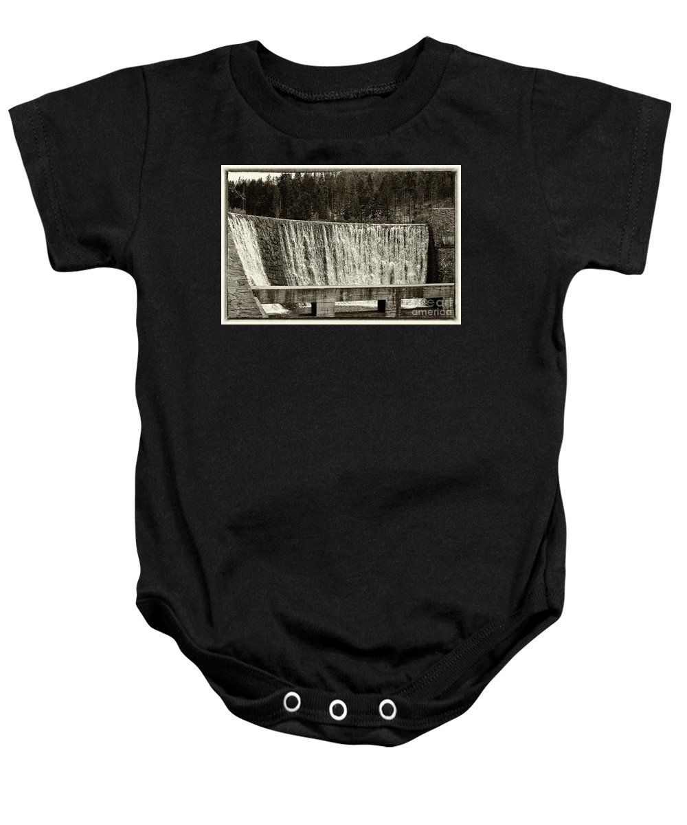 Antique Baby Onesie featuring the photograph Antique Polish Waterfall by Mariola Bitner
