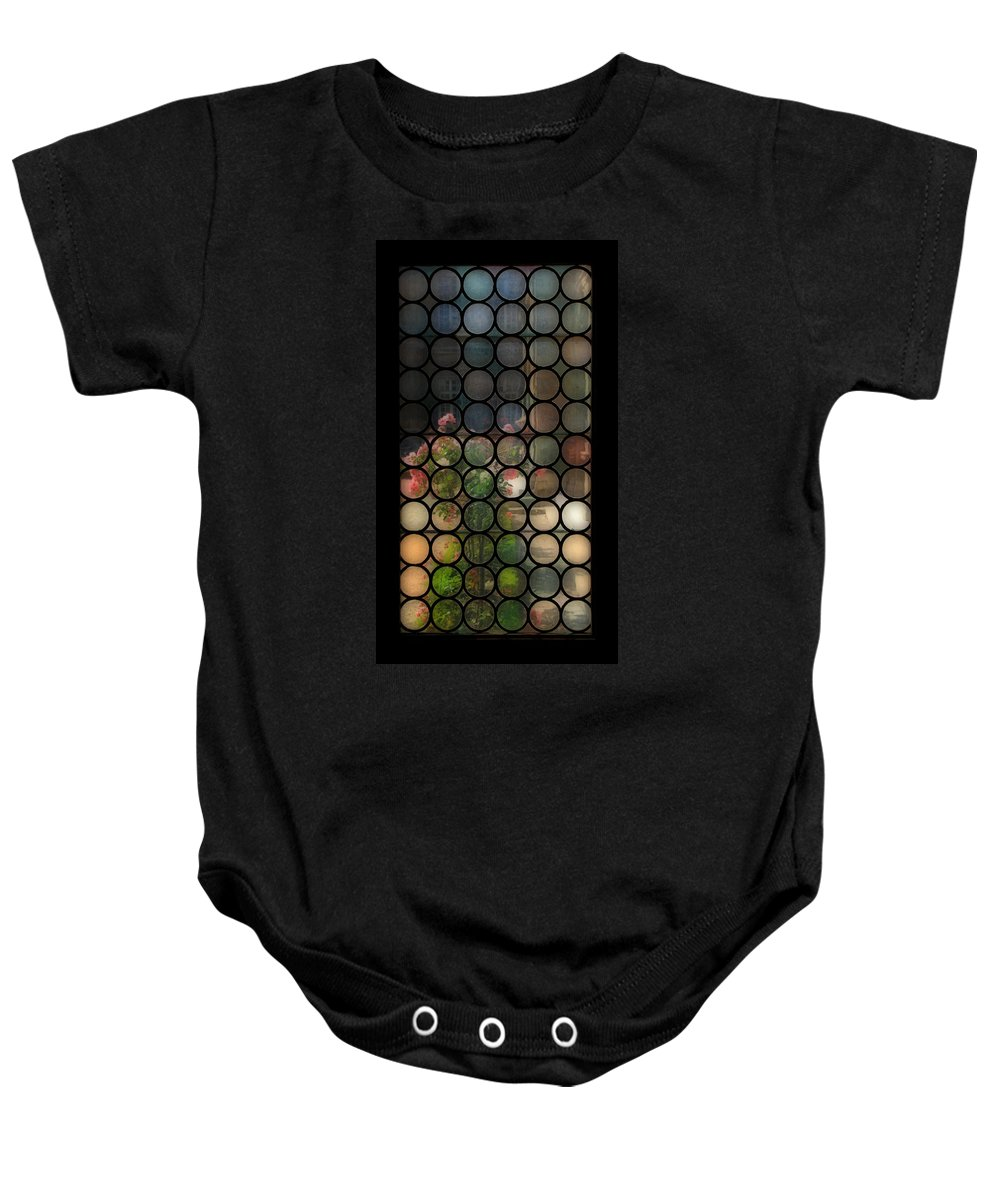 Paris Baby Onesie featuring the photograph Antique Window by Andrew Fare