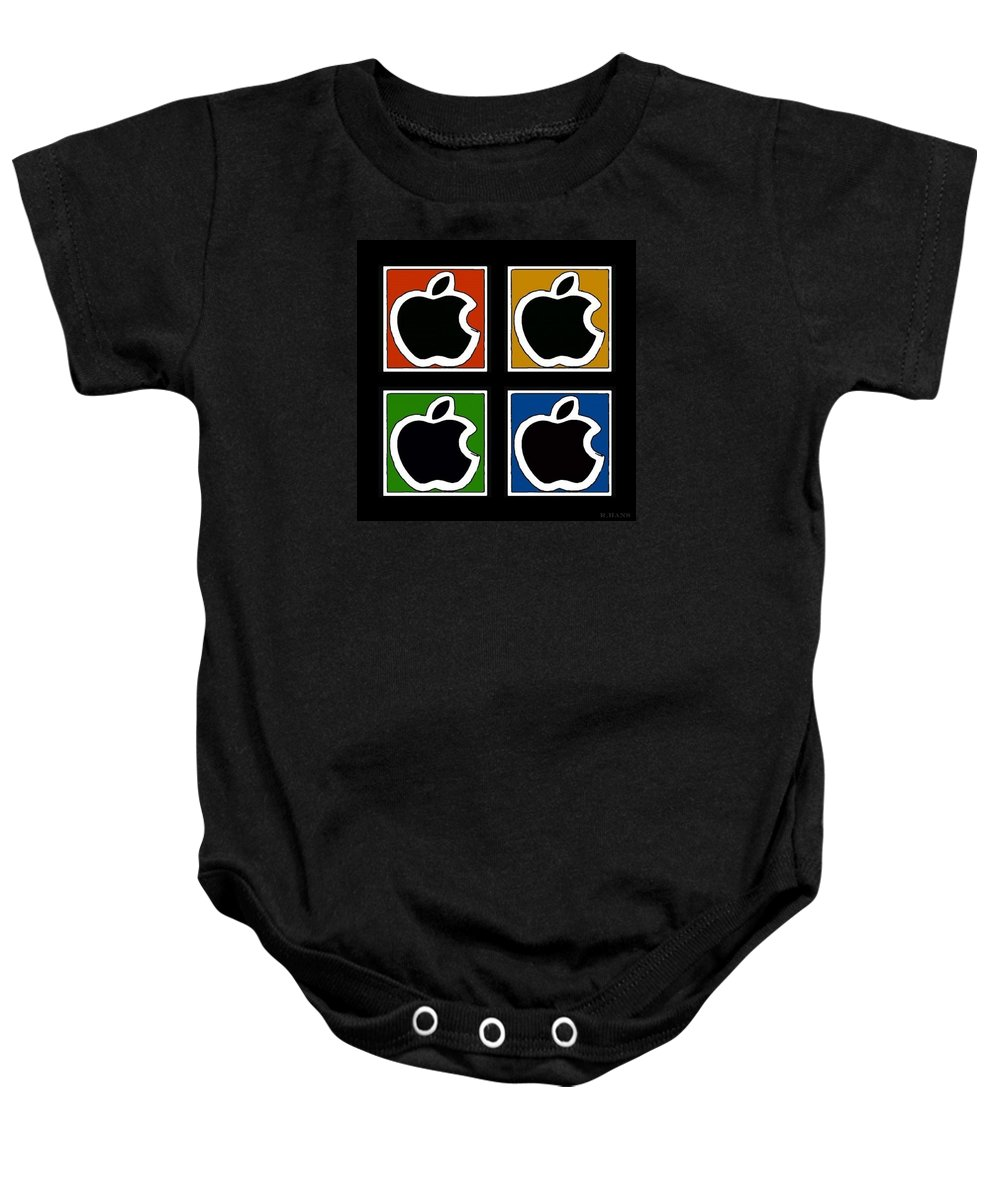 Black Apple Baby Onesie featuring the photograph Apple Colors by Rob Hans