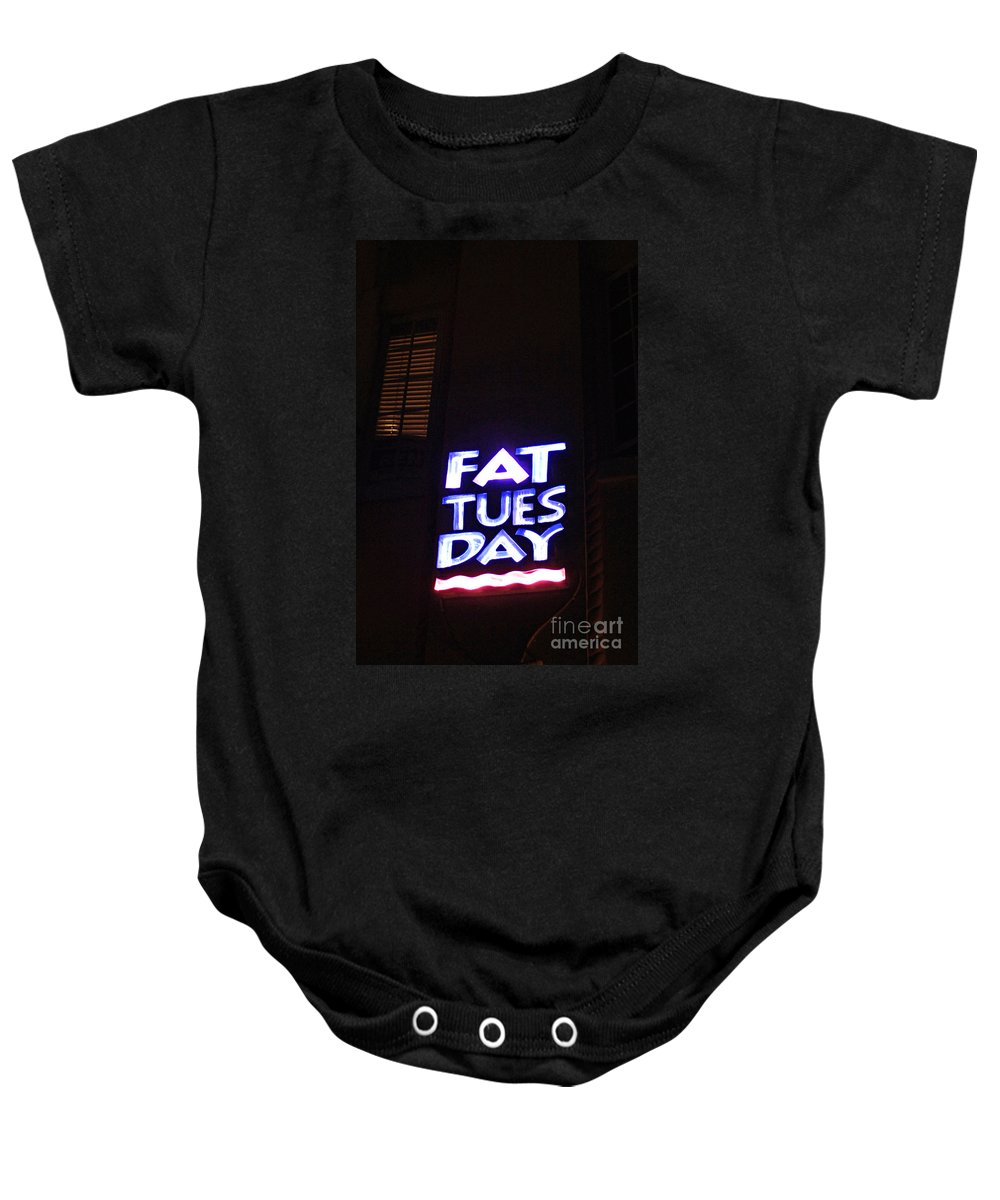 Neon Baby Onesie featuring the photograph Art Deco Miami 5 by Bob Christopher