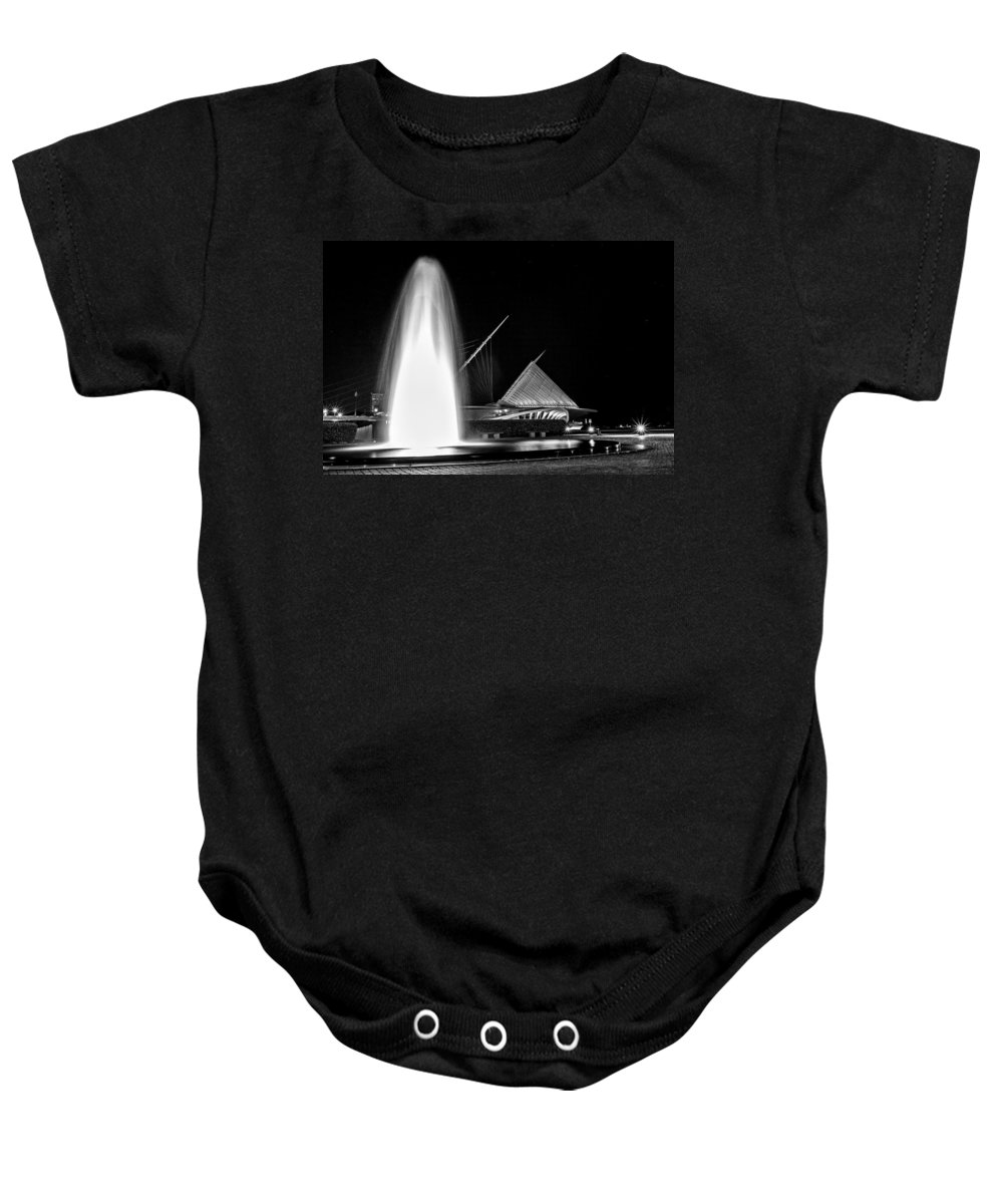Cj Schmit Baby Onesie featuring the photograph Art Fountain by CJ Schmit