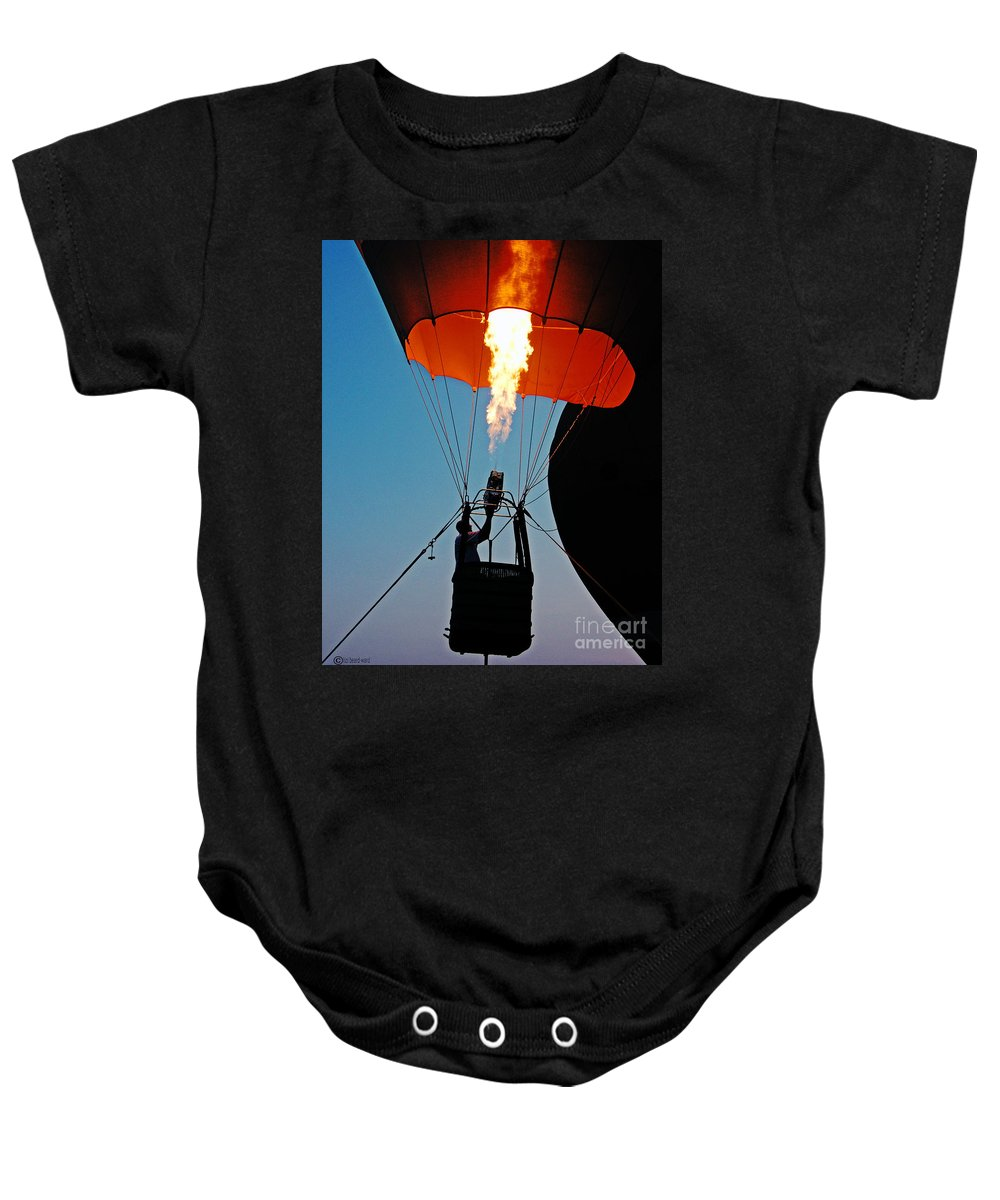 Balloon Baby Onesie featuring the photograph Ascension Flames by Lizi Beard-Ward