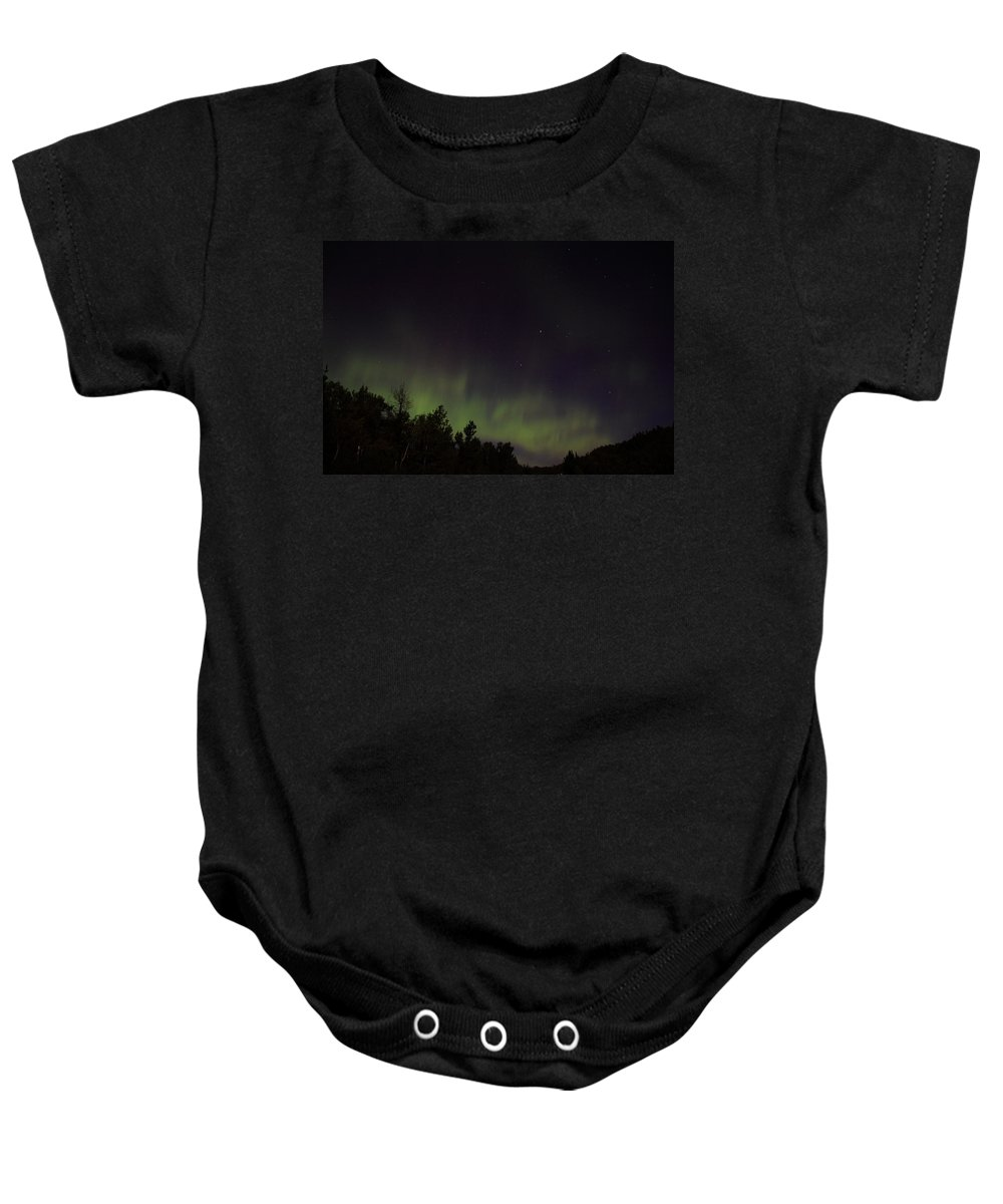 Baby Onesie featuring the photograph Aurora by Joi Electa