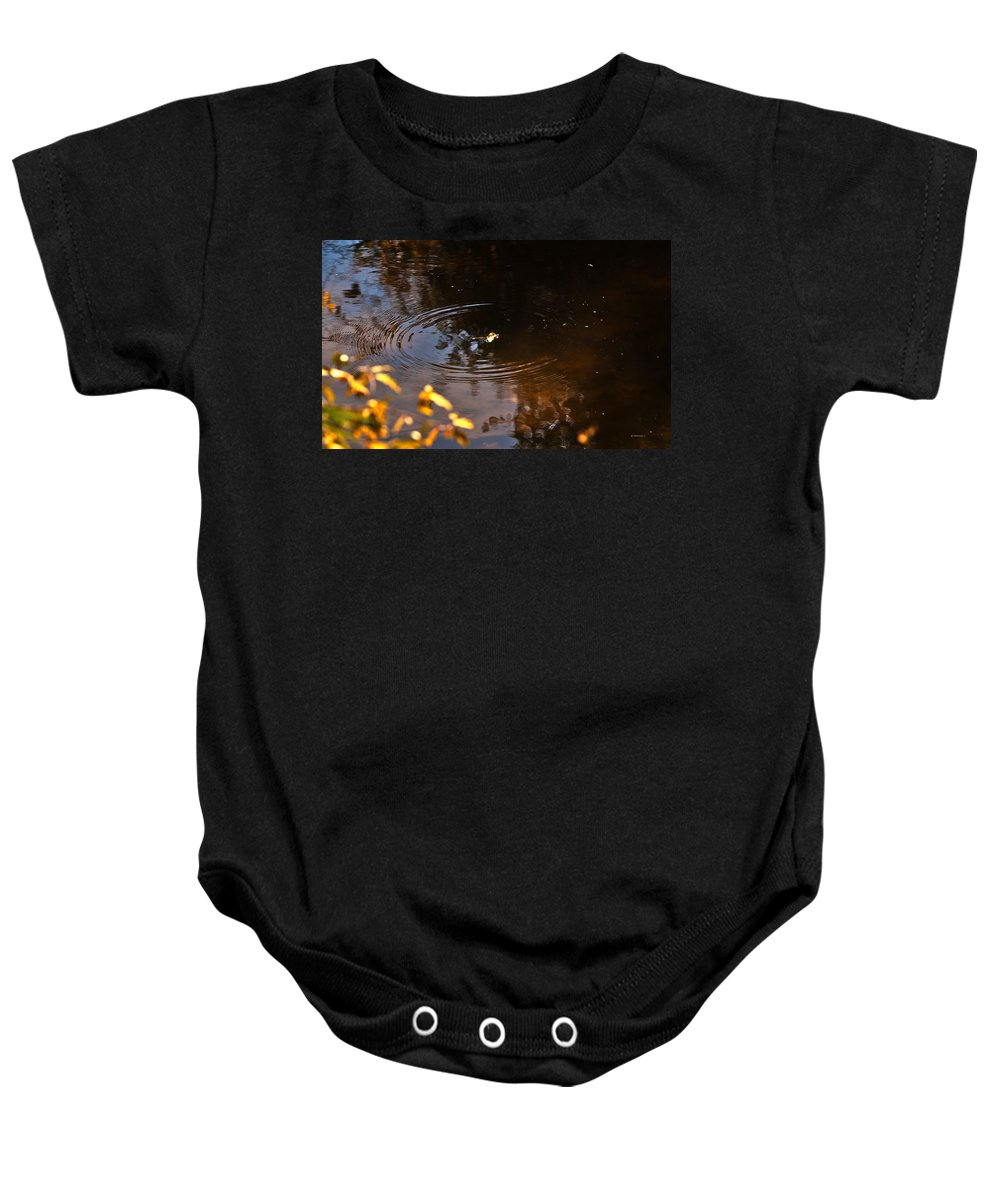 Leaves Baby Onesie featuring the photograph Autumn Rings by Edward Peterson