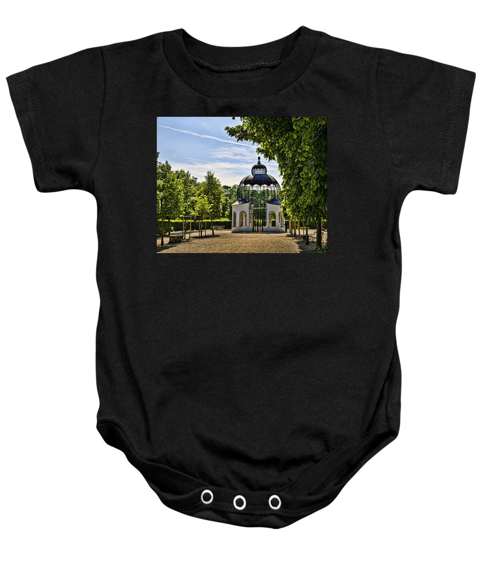 Schonbrunn Palace Baby Onesie featuring the photograph Aviary At Schonbrunn Palace by Jon Berghoff