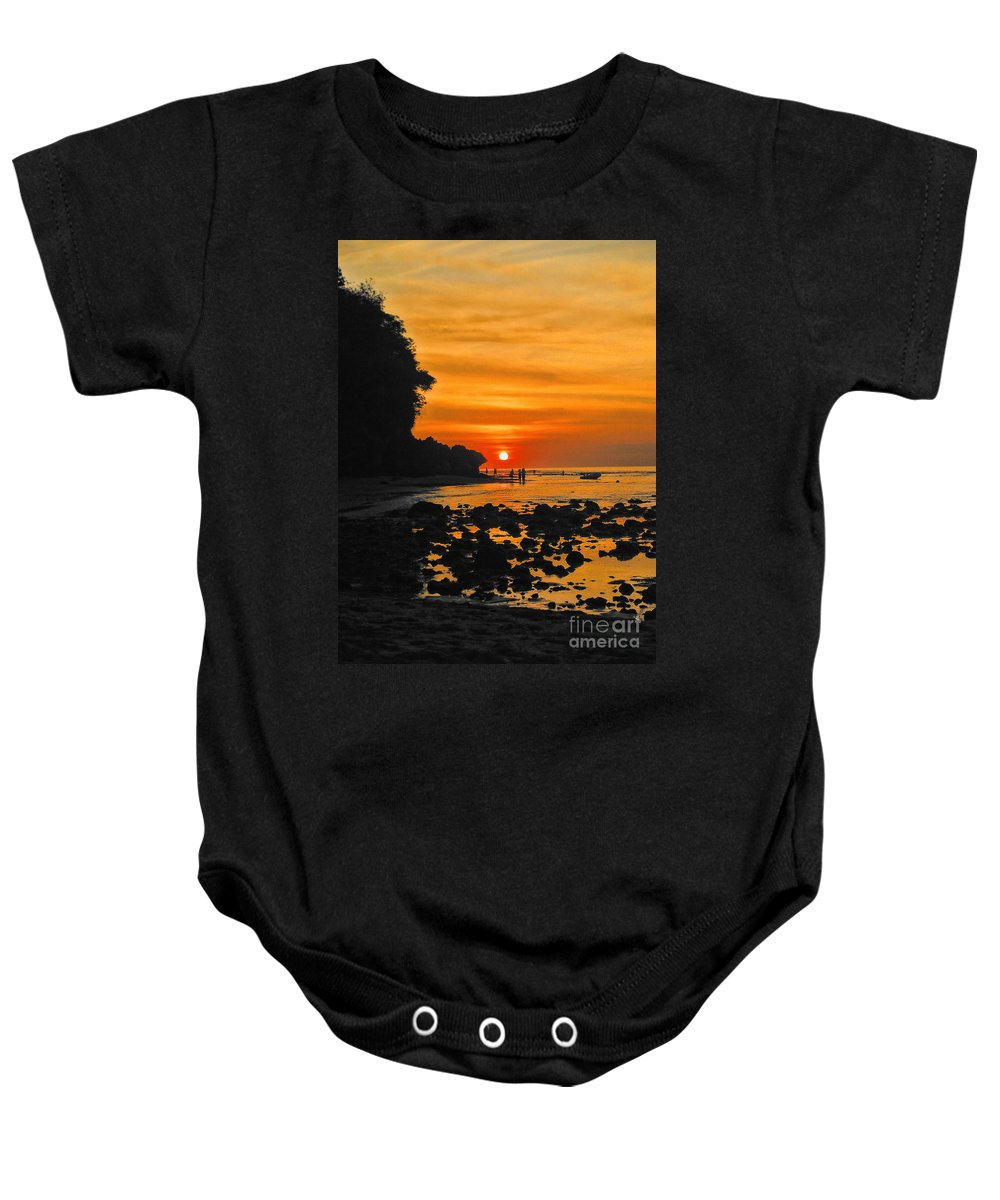 Indonesian Baby Onesie featuring the photograph Bali Indonesian Sunset by RJ Aguilar