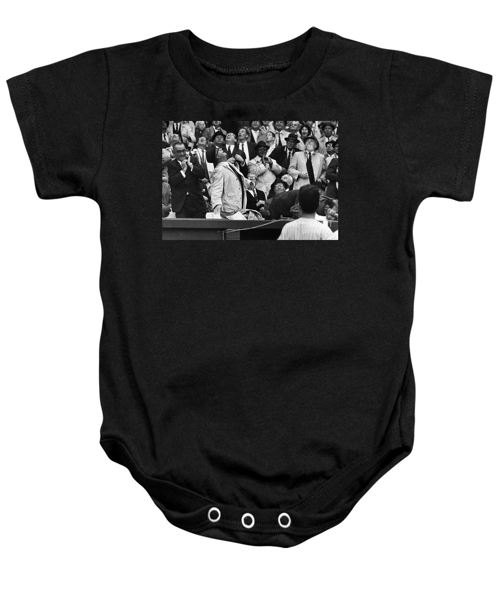 1962 Baby Onesie featuring the photograph Baseball Crowd, 1962 by Granger