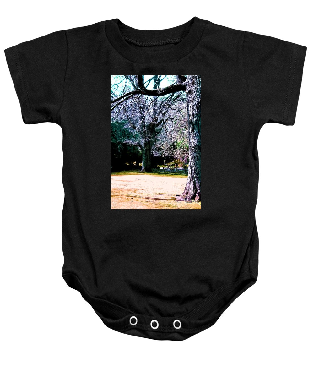 Park Baby Onesie featuring the digital art Beautiful Parkland Digital Drawing by Phill Petrovic
