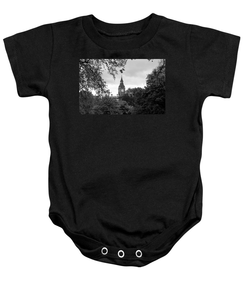 Big Ben Baby Onesie featuring the photograph Big Ben by Andrew Fare