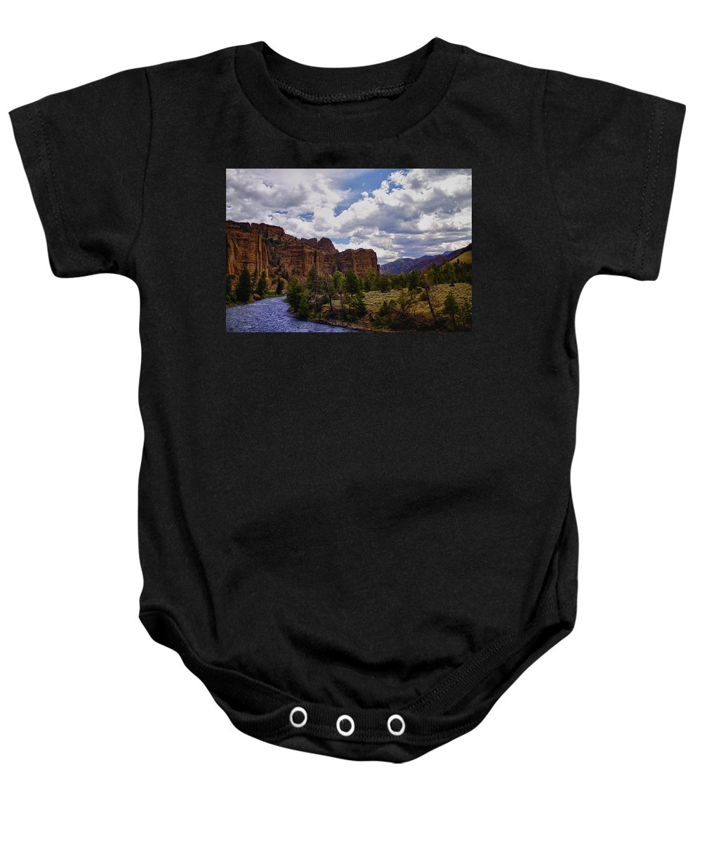 Big Horn National Forest Baby Onesie featuring the photograph Big Horn National Forest by Linda Dunn