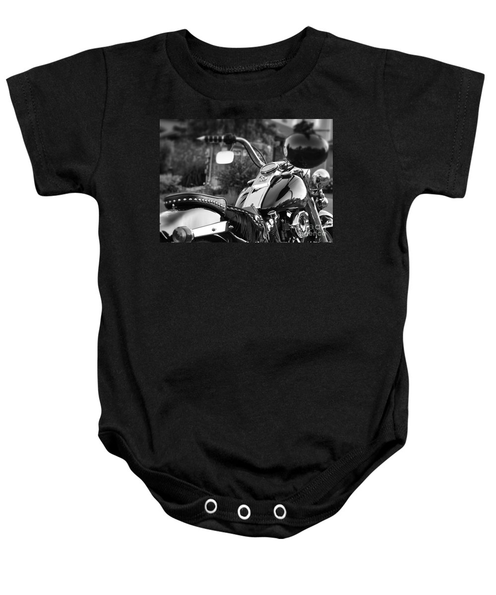 Motorcycle Baby Onesie featuring the photograph Bike Me Too by Traci Cottingham