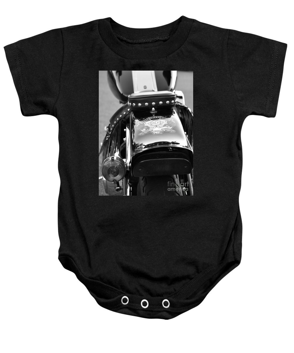 Motorcycle Baby Onesie featuring the photograph Bike Me by Traci Cottingham