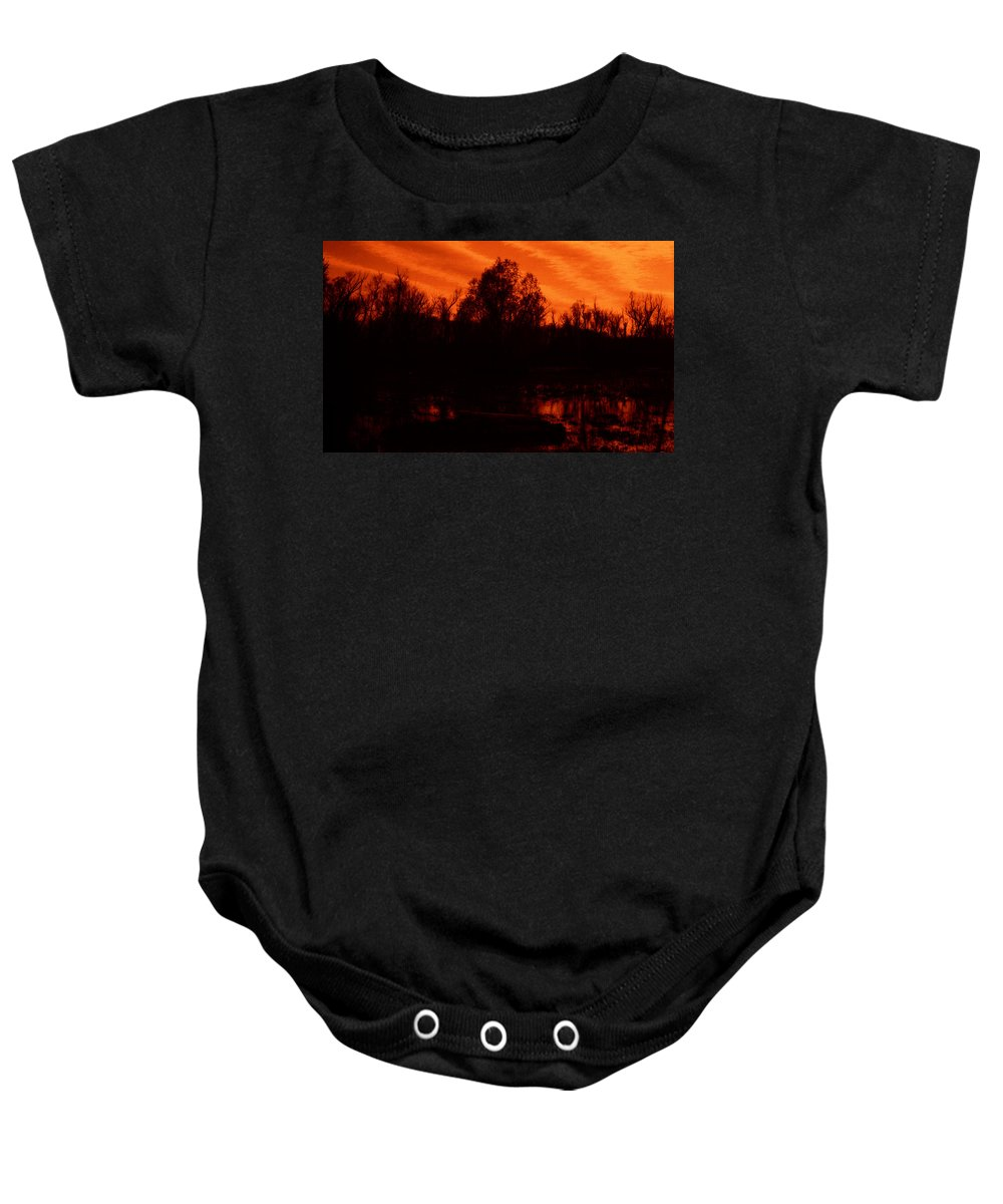 Louisiana Baby Onesie featuring the photograph Black Bayou 10 by Doug Duffey