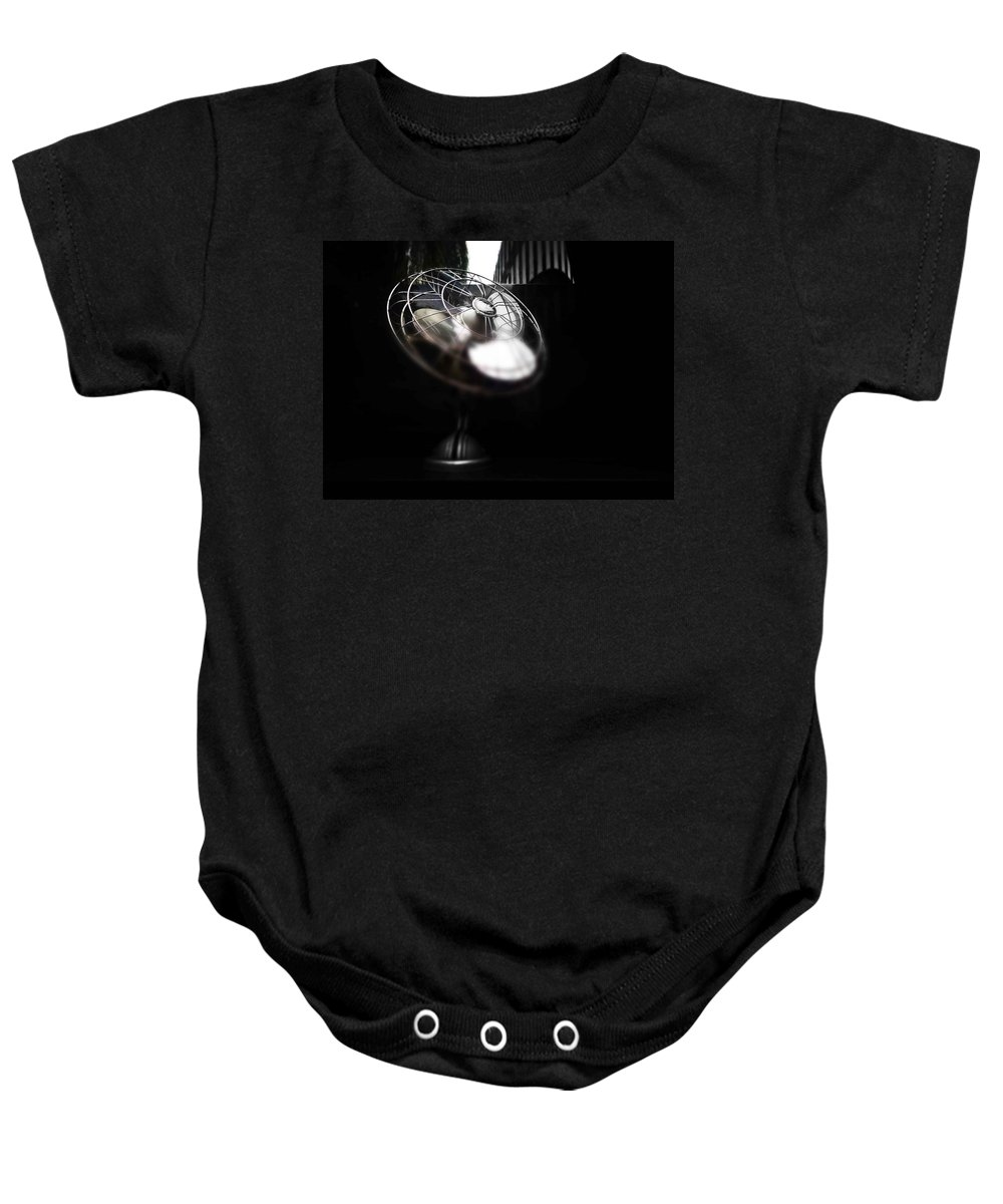 Fan Baby Onesie featuring the photograph Black Breeze by Charles Stuart