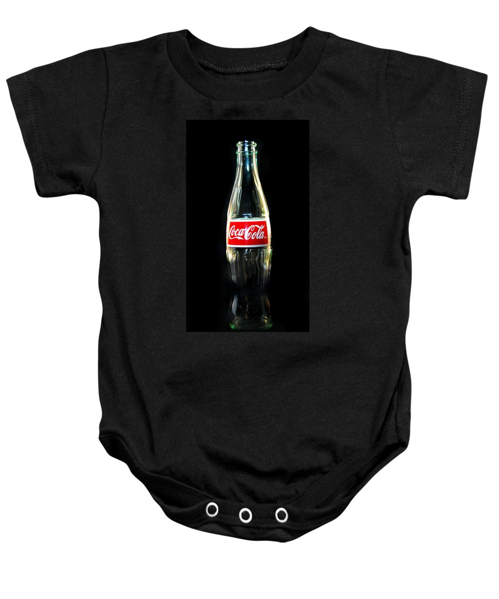 Bottle Baby Onesie featuring the photograph Black Coke by Skip Willits