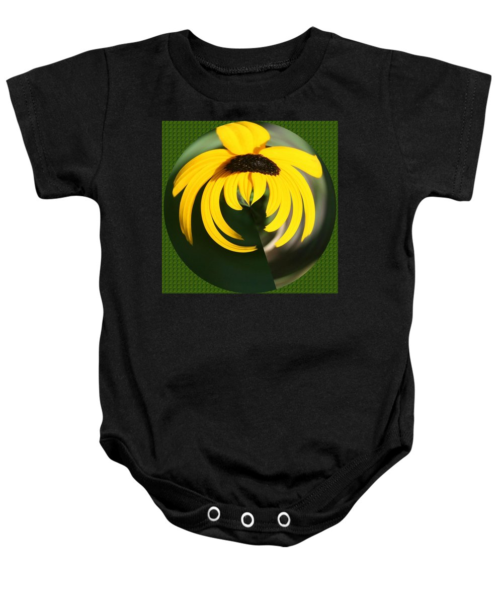 Baby Onesie featuring the photograph Black Eyed Sphere by Barbara S Nickerson