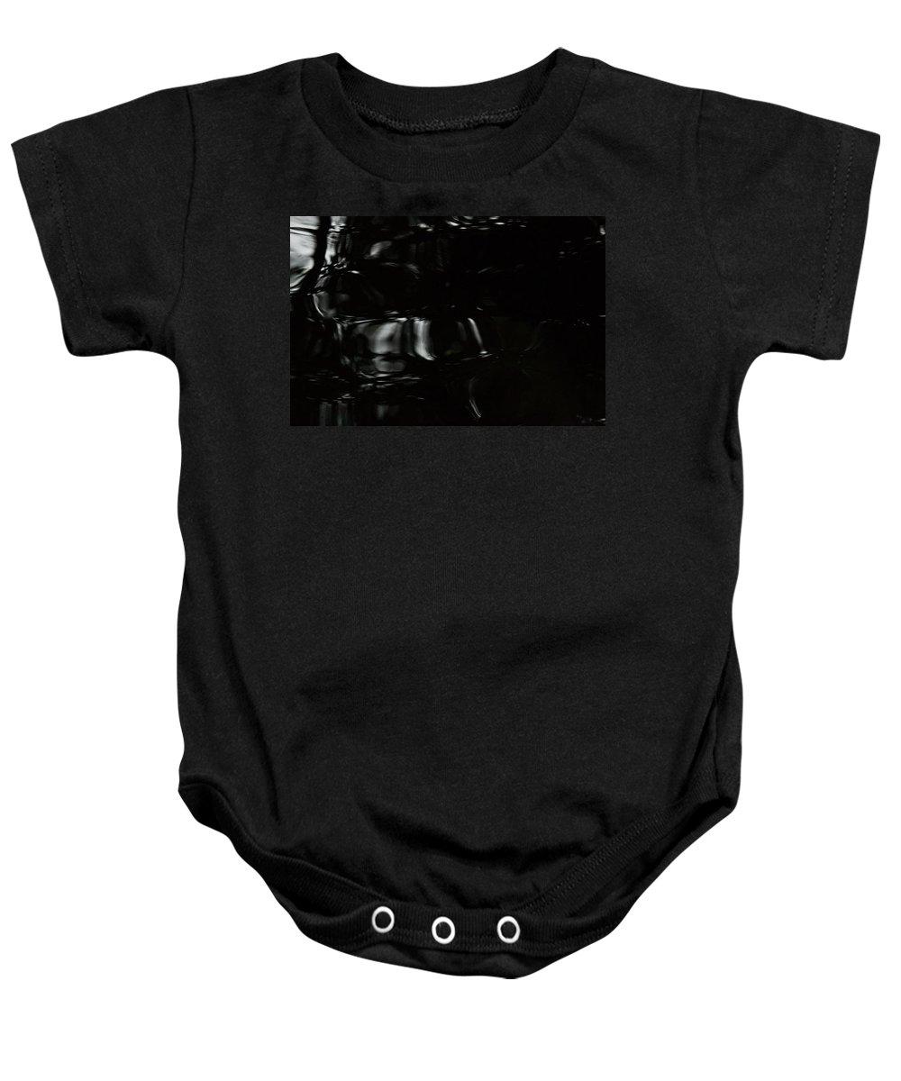 Black Baby Onesie featuring the photograph Black Water by Marie Jamieson