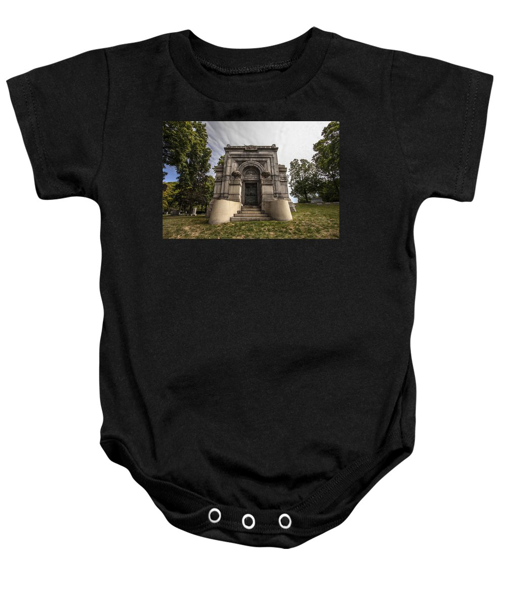 Cj Schmit Baby Onesie featuring the photograph Blatz Family Mausoleum by CJ Schmit