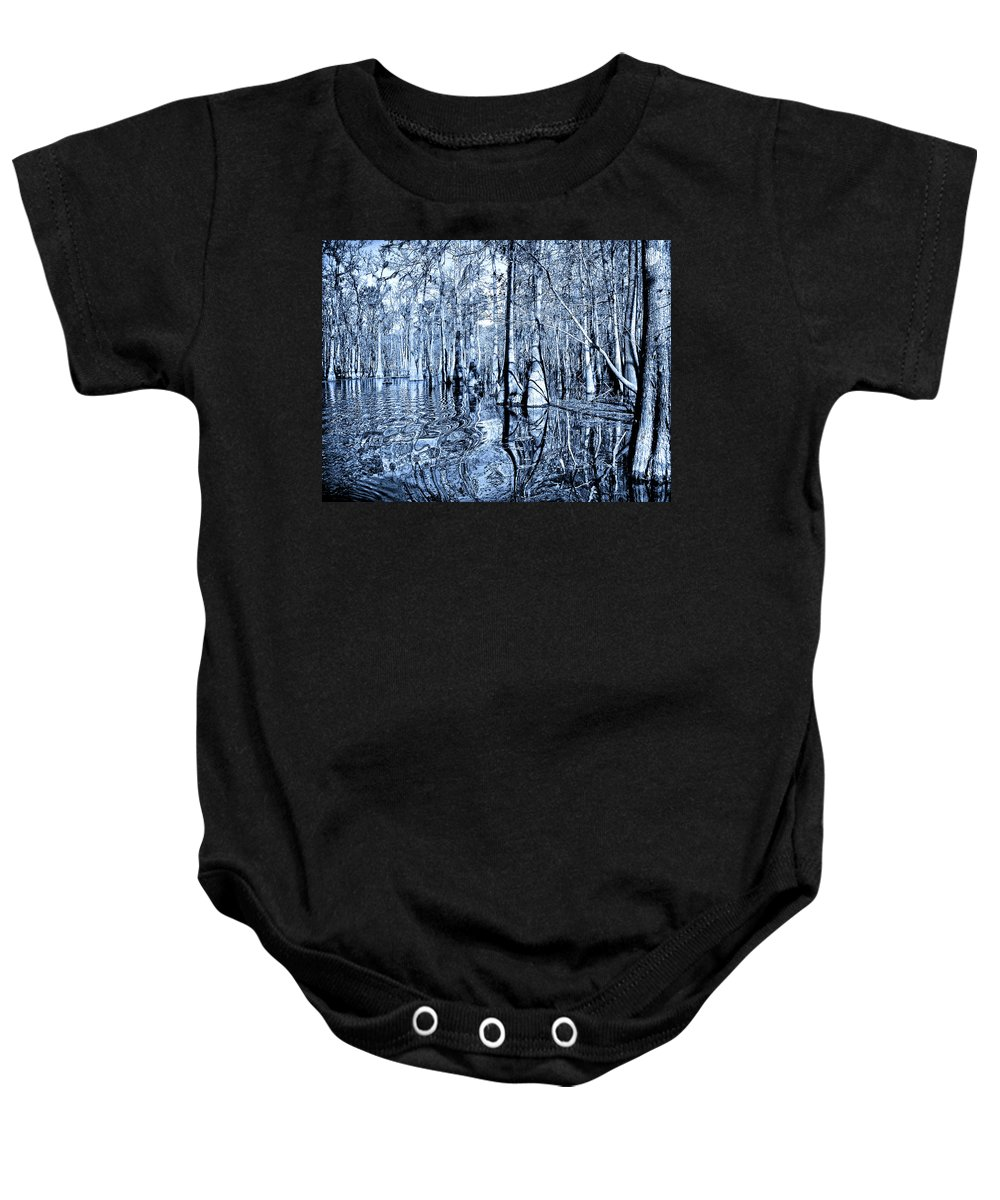 Blue Bayou Baby Onesie featuring the photograph Blue Bayou by Dominic Piperata