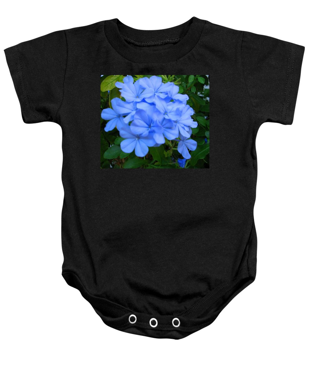 Flower Baby Onesie featuring the photograph Blue Flowers by April Patterson