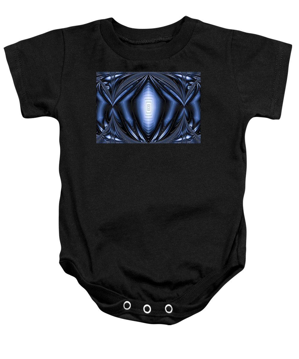Nuview Baby Onesie featuring the digital art Blue Light by Theodore Jones