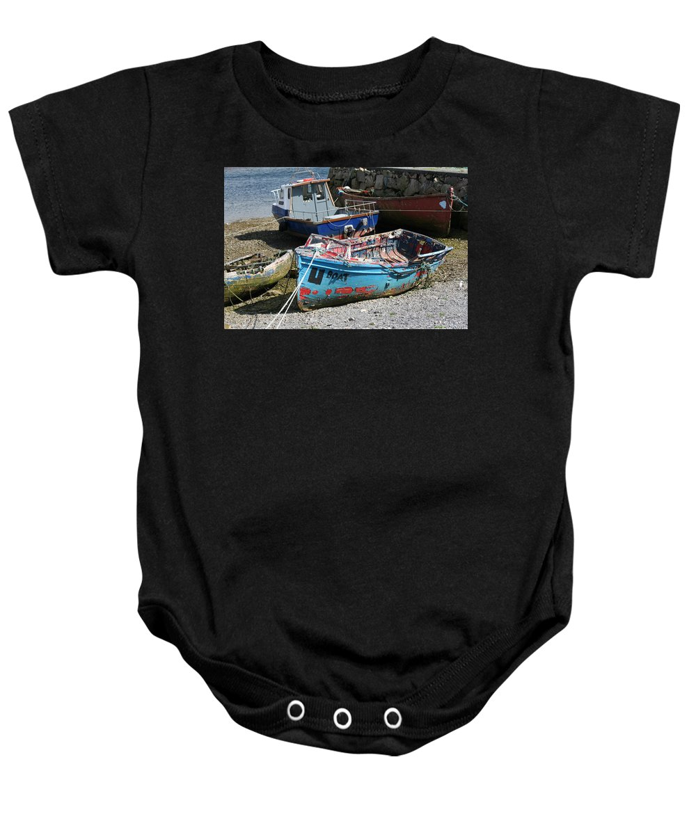 Boat Baby Onesie featuring the photograph Boat 0003 by Carol Ann Thomas