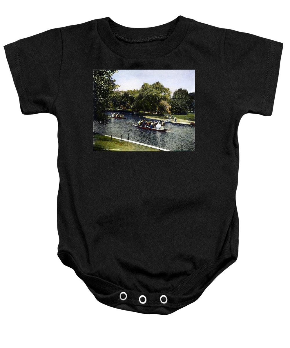 1900 Baby Onesie featuring the photograph Boston: Swan Boats, C1900 by Granger