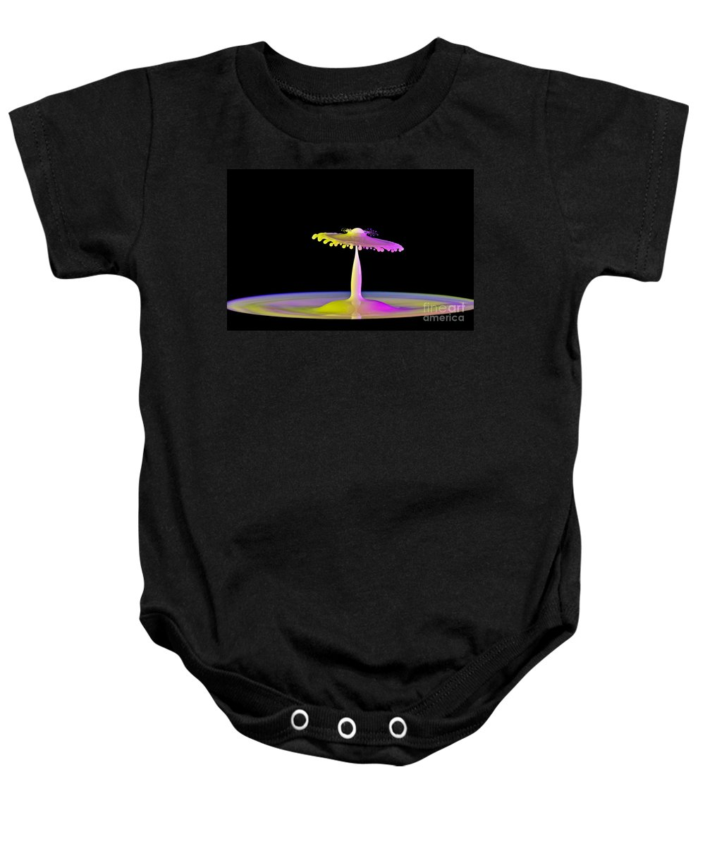 Water Baby Onesie featuring the photograph Breaking Thru by Susan Candelario