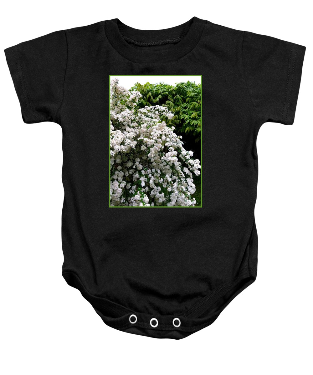 Bridal Veil Baby Onesie featuring the photograph Bridal Veil Blossoms by Will Borden