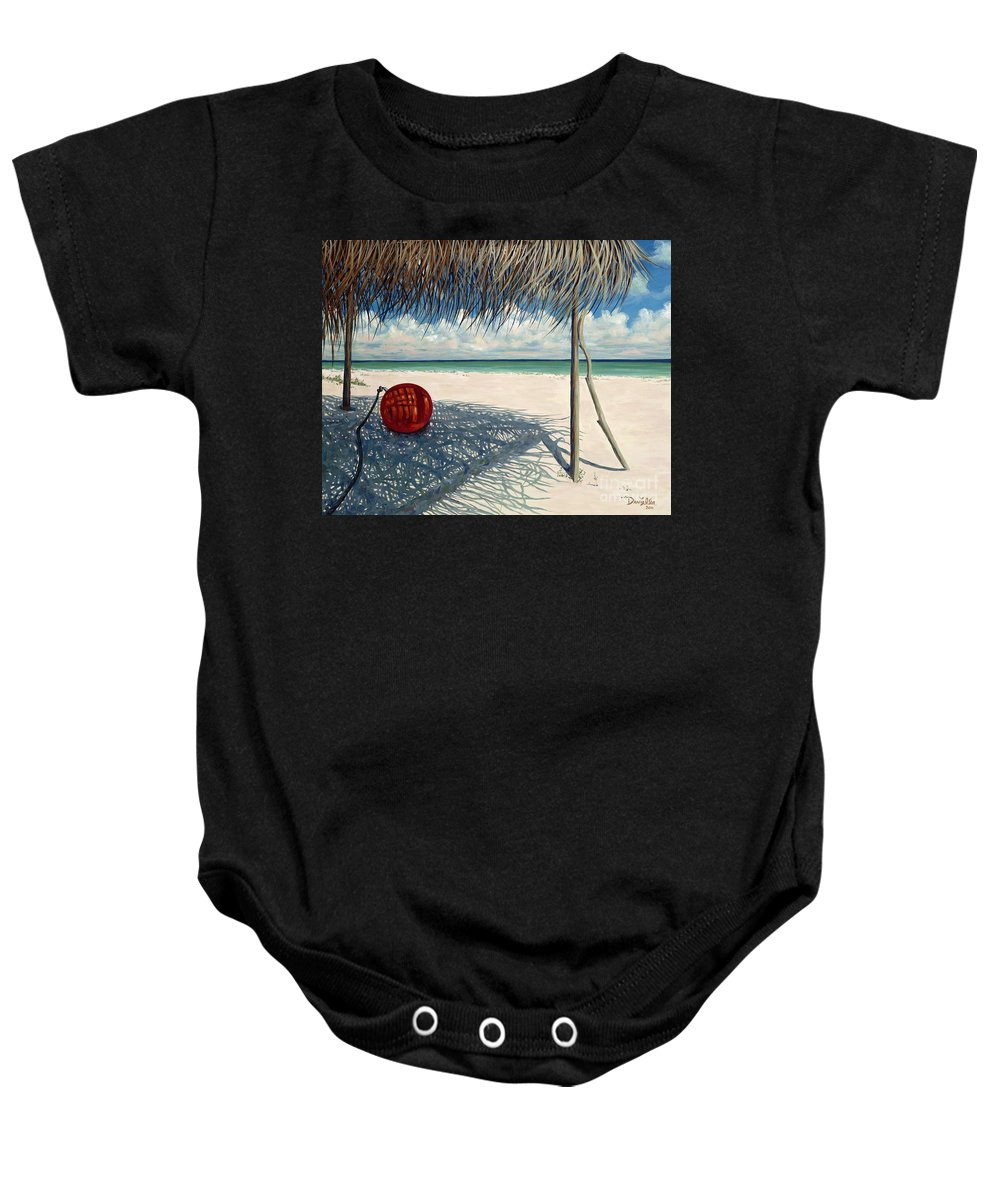 Harbour Island Baby Onesie featuring the painting Briland Buoy by Danielle Perry