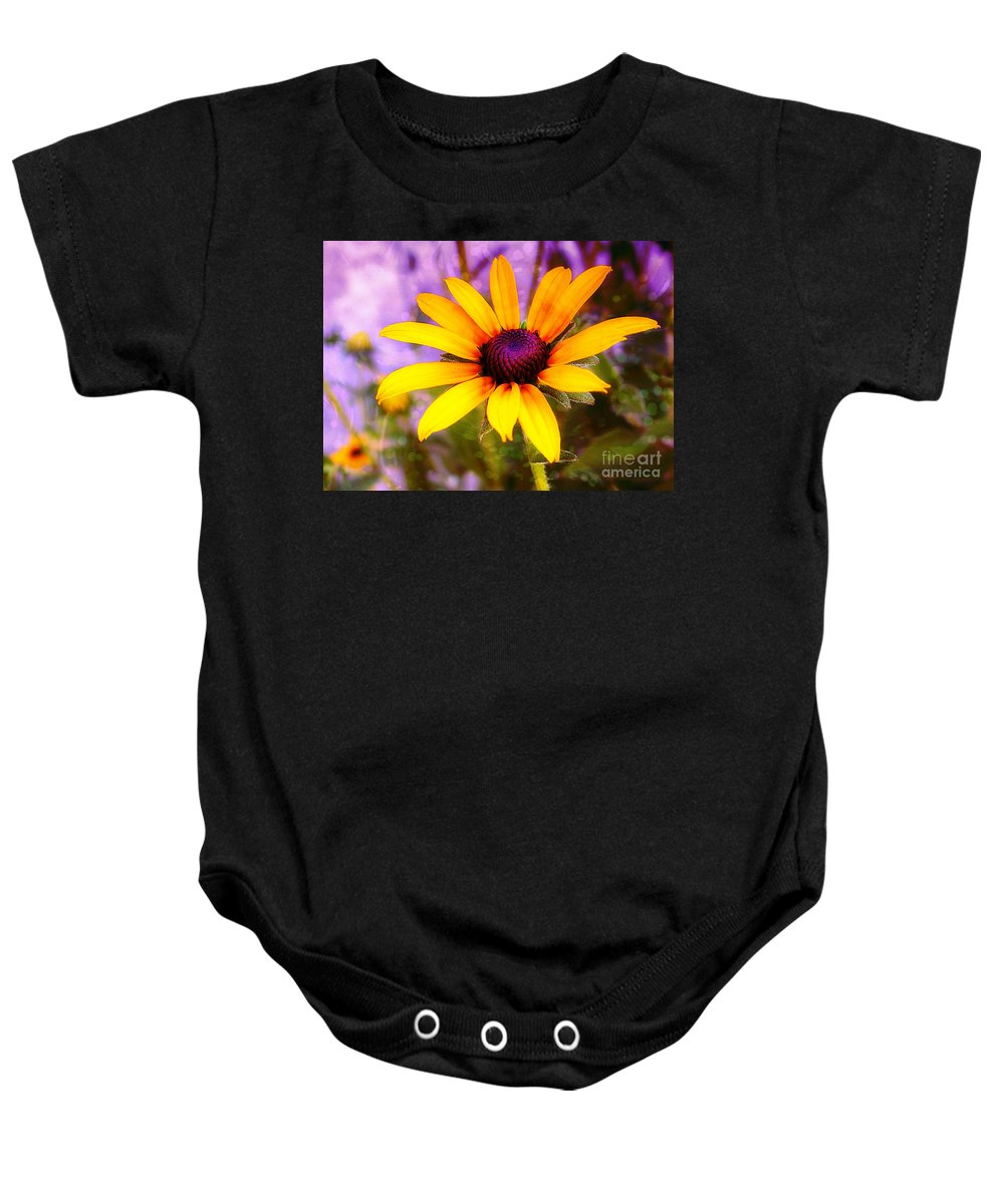 Sunflower Baby Onesie featuring the photograph Brown-eyed Susan by Judi Bagwell