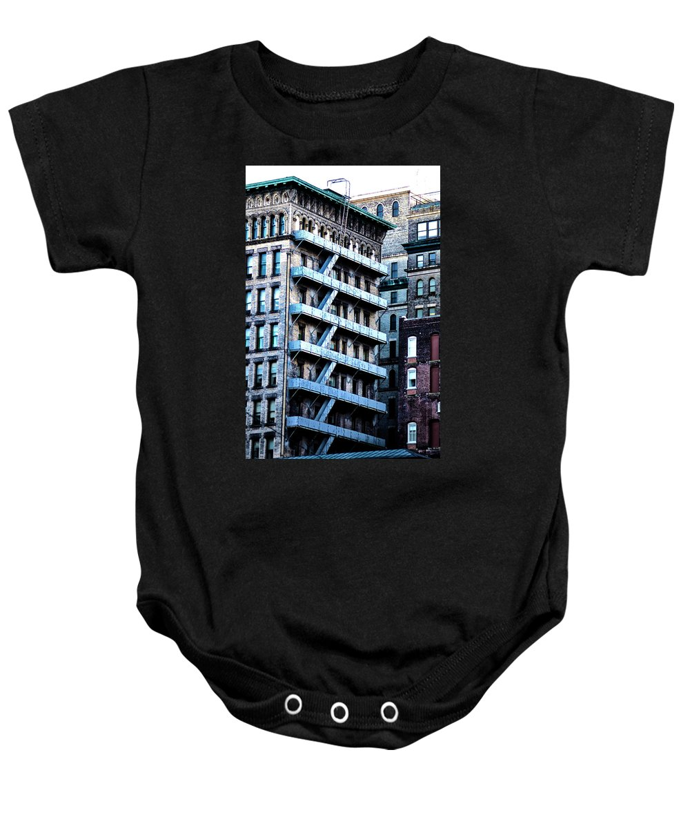 Building Baby Onesie featuring the photograph Brownstone by Bill Cannon