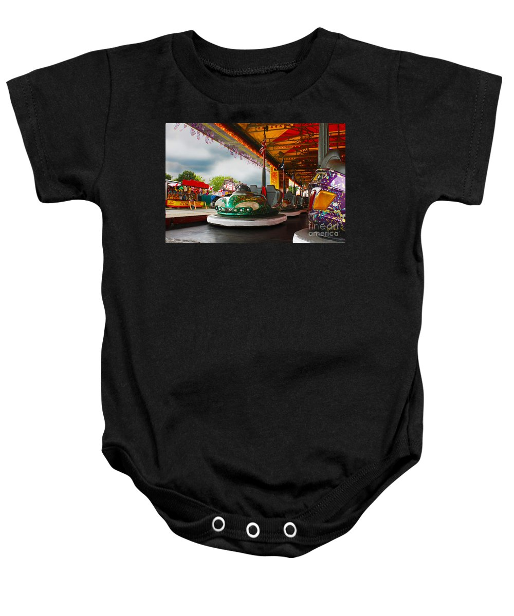 Dodgems Baby Onesie featuring the photograph Bumper Cars by Terri Waters