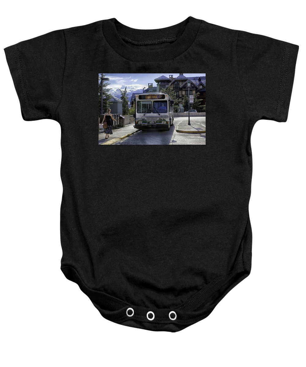 Vail Baby Onesie featuring the photograph Bus To East Vail - Colorado by Madeline Ellis