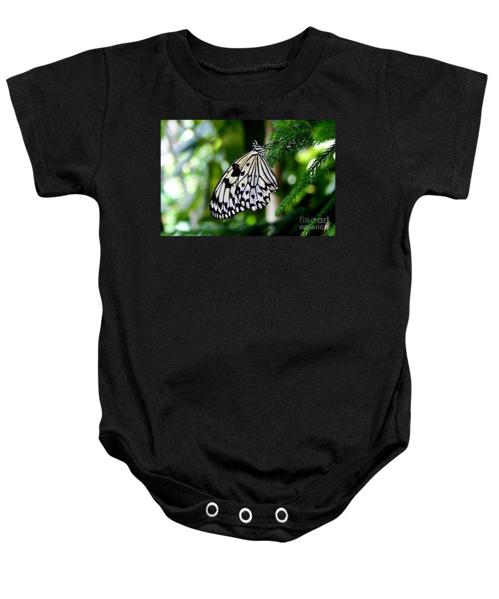 Butterfly Baby Onesie featuring the photograph Butterfly II by Ellen Heaverlo