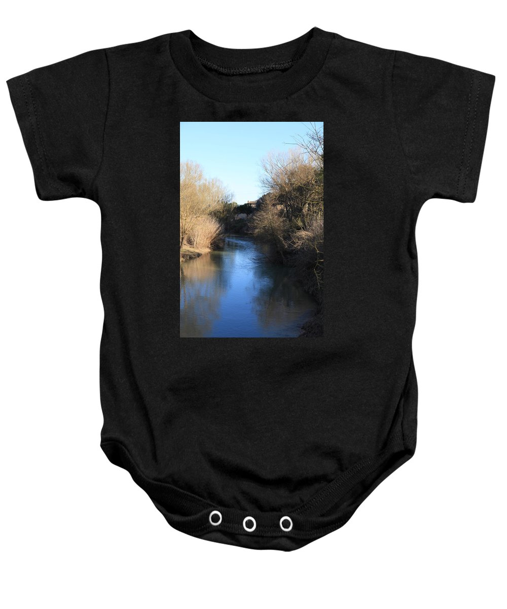 River Baby Onesie featuring the photograph By The River by Francesco Scali