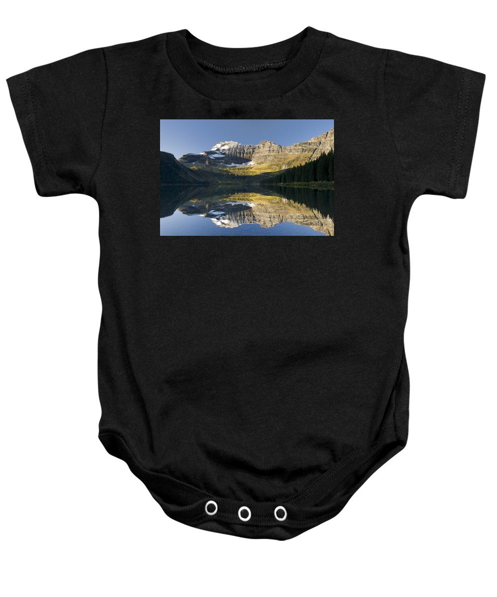 Alberta Baby Onesie featuring the photograph Cameron Lake, Waterton, Alberta, Canada by Philippe Widling
