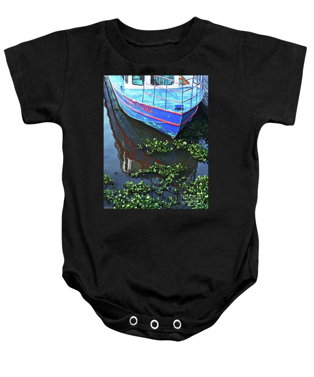 Swamp Baby Onesie featuring the photograph Cap'n Tee by Lizi Beard-Ward