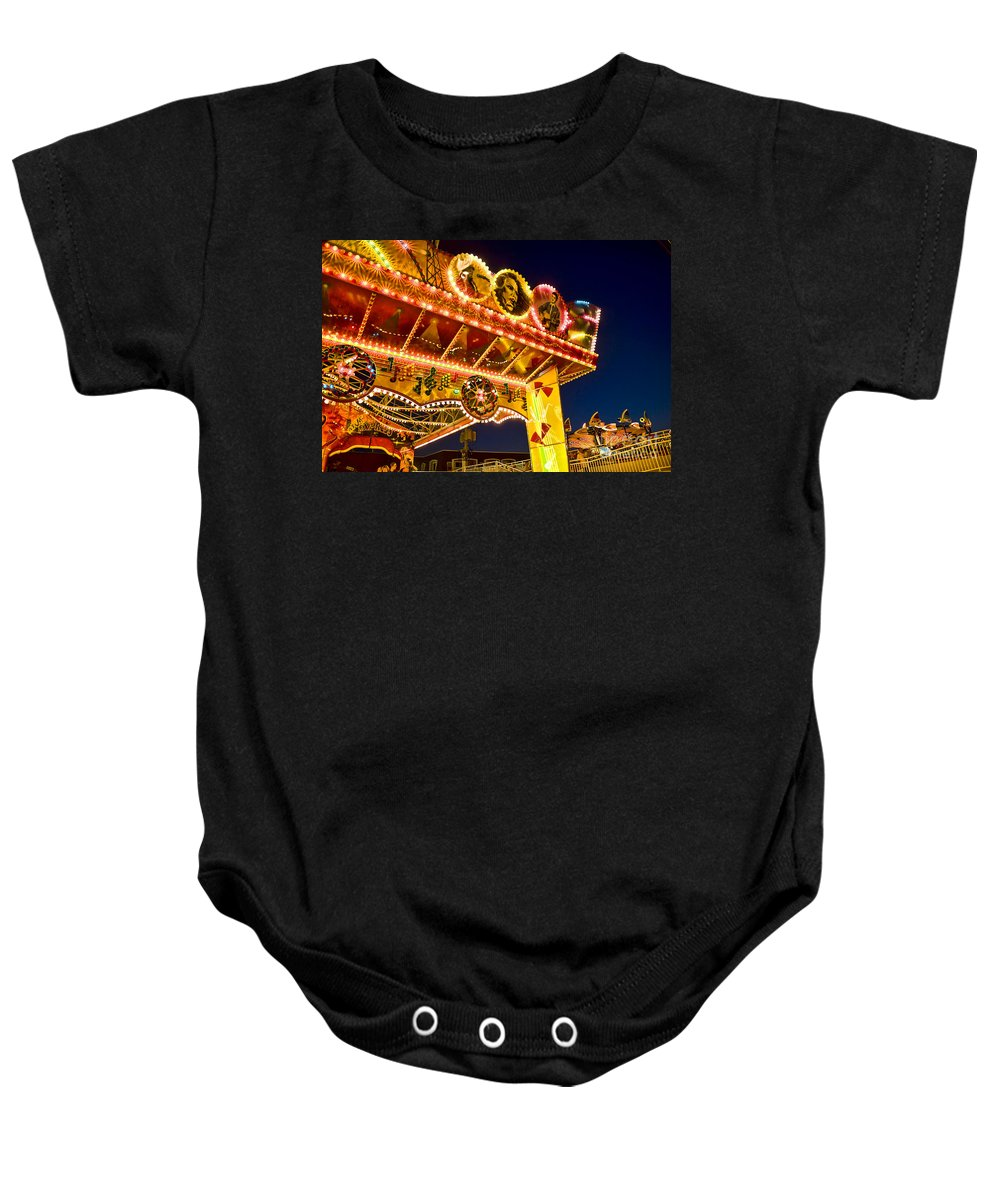 Boardwalk Baby Onesie featuring the photograph Carnival Ride by John Greim