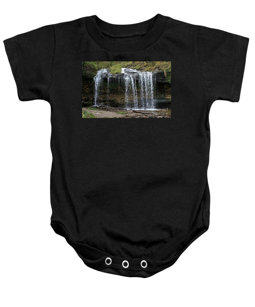 Landscape Baby Onesie featuring the photograph Cascade Falls by Susan Herber