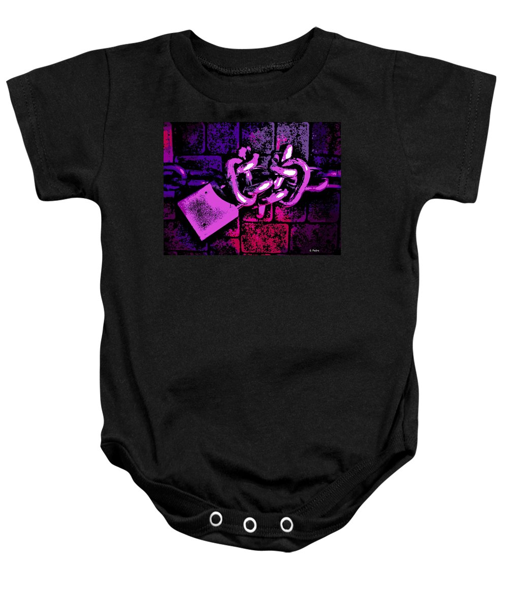 Chain Baby Onesie featuring the photograph Chained by George Pedro