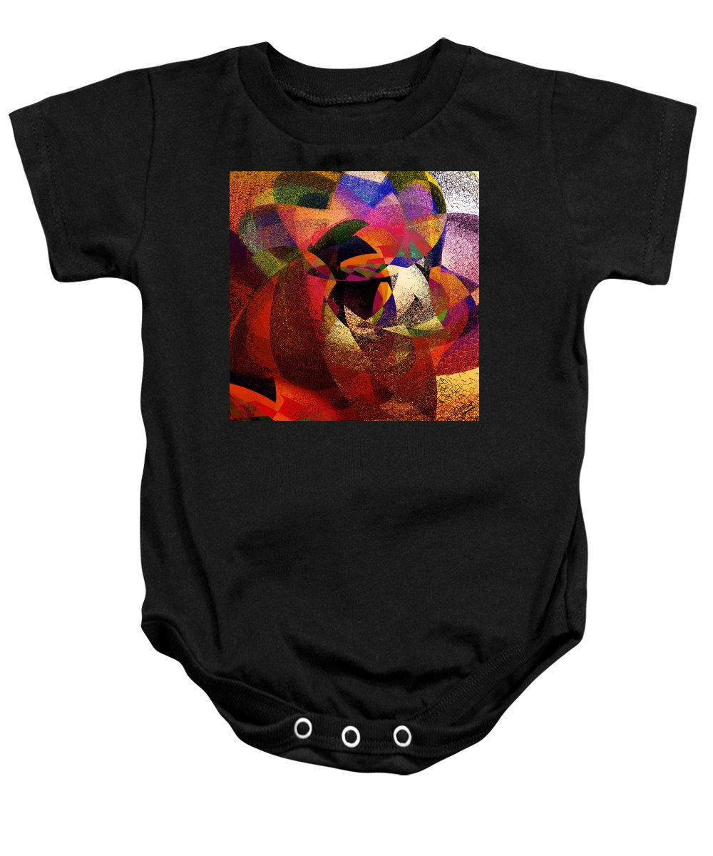 Abstract Baby Onesie featuring the digital art Chalk Face by Grant Wilson